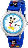 Disney Kids' W000014 Mickey Mouse Stainless Steel Time Teacher Watch