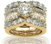 Enchanment Beautiful Plated 3pcs Engagement Wedding Ring and Band Set - Ginger Lyne Collection