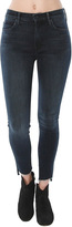Mother Stunner Zip Ankle Step Fray Jean