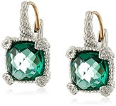 Judith Ripka Green Quartz Earrings