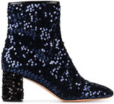 Rochas Blue sequin ankle boots