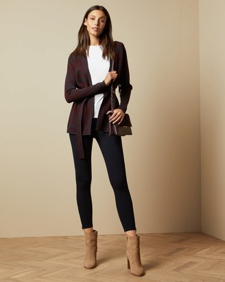 Ted Baker Long Line Checked Cardigan