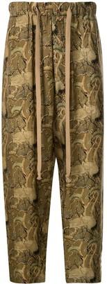 UMA WANG Heron Print Pajama Trousers