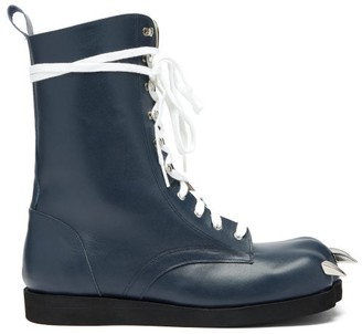 Charles Jeffrey Loverboy X Roker Lion Claw Leather Boots - Womens - Navy
