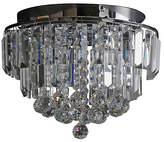 Heart of House Opulence Crystal Glass Flush Ceiling Light
