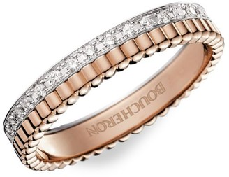 Boucheron Quatre Radiant Edition 18K Rose Gold, White Gold & Diamond Ring