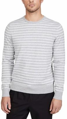 Calvin Klein Jeans Men's Long Sleeve Stripe Liquid Crew Neck Sweater