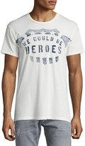 Sol Angeles Heroes Crewneck T-Shirt, White
