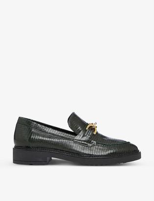 Dune Gisella embellished leather loafers
