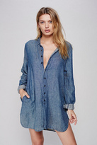 CP Shades x Free People Womens FLANNEL TUNIC SOLID