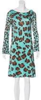 Blumarine Silk Leopard Dress