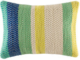 Kas Harris Blue Stripe Rectangle Cushion Cover