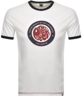 Pretty Green Like Minded Crew Neck T Shirt White