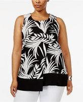 Alfani Plus Size Printed Layered Top, Created for Macy's
