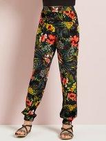 M&Co Tropical print harem trousers
