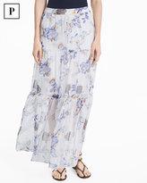 White House Black Market Petite Floral Print Maxi Skirt