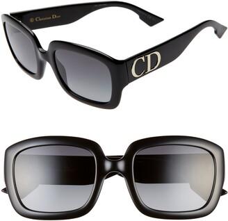 Christian Dior 54mm Gradient Square Sunglasses