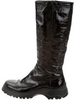 Prada Sport Patent Leather Riding Boots