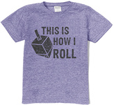 Urban Smalls Heather Blue 'This Is How I Roll' Dreidel Tee - Toddler & Boys