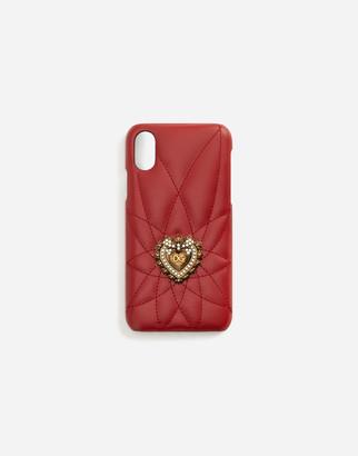 Dolce & Gabbana Iphone X Cover In Devotion Calfskin