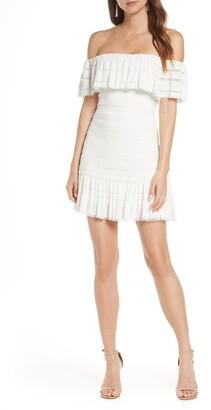 SHO Off the Shoulder Crinkled Minidress
