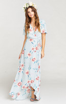 MUMU Sophia Wrap Dress ~ Flower Hour Sky