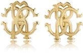 Roberto Cavalli RC Lux Golden Stud Earrings