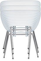 Vitra Tom Vac Chair Translucent With Silver Powder Coated Legs