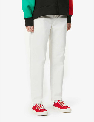 Benetton High-rise relaxed straight-leg denim jeans