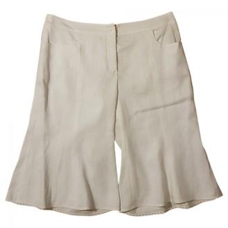 Armani Collezioni White Cotton Shorts for Women