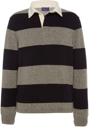 Ralph Lauren Purple Label Striped Rugby Cashmere Top