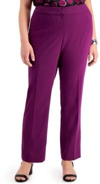 Bar III Trendy Plus Size Flare-Leg Pants, Created for Macy's