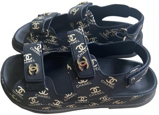 Chanel Dad Sandals Black Rubber Sandals