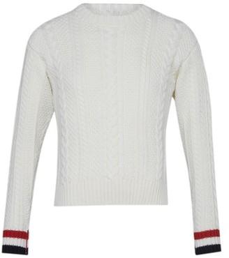 Thom Browne Aran Cable merino wool sweatshirt