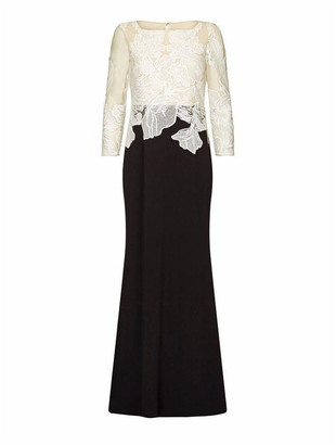 Adrianna Papell Embroidered Long Dress