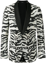 Dolce & Gabbana zebra pattern jacket - men - Silk/Polyester/Spandex/Elastane/Virgin Wool - 48