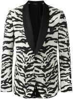 Dolce & Gabbana zebra pattern jacket - men - Silk/Spandex/Elastane/Polyester/Virgin Wool - 48