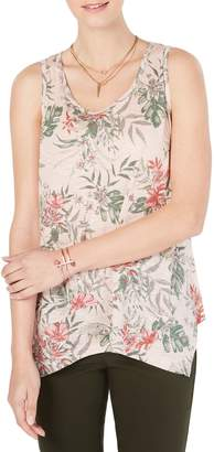 Style&Co. Style & Co. Petite Printed Cotton Blend Tank Top