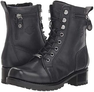Harley-Davidson Keeler (Black) Women's Lace-up Boots