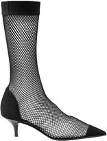 Stella McCartney Fishnet, Faux Suede And Pvc Sock Boots