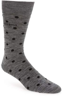 BOSS Yarn Effect Dot Print Crew Socks