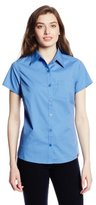 Dickies Women's Short Sleeve Solid Poplin Shirt