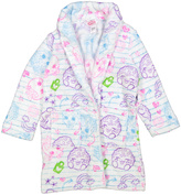Intimo Purple & Pink Shopkins Plush Doodle Robe - Girls