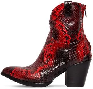 Rocco P. 70mm Python Skin Boots
