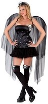 Fun World Costumes Skull Fairy Costume Gothic Wings Thigh Highs Adult Women Halloween Hot M/L10-14