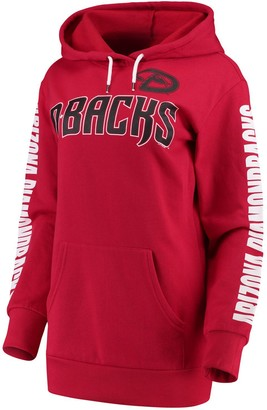 G Iii Women's G-III 4Her by Carl Banks Red Arizona Diamondbacks Extra Innings Pullover Hoodie