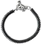 King Baby Studio Men's Hematite Bead Bracelet