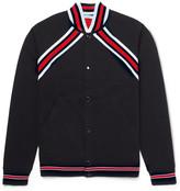 Givenchy - Slim-fit Stripe-trimmed Cotton-jersey Varsity Jacket