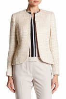 Anne Klein Sequined Tweed Blazer