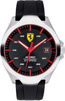 Ferrari Men's Aero Black Silcone Strap Watch 44mm